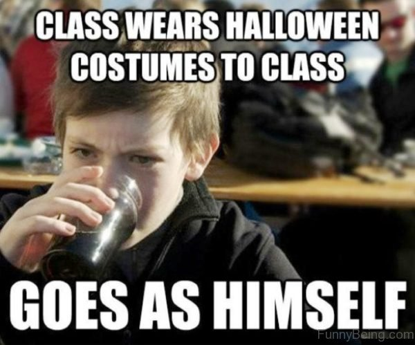 Class Wears Halloween Costumes