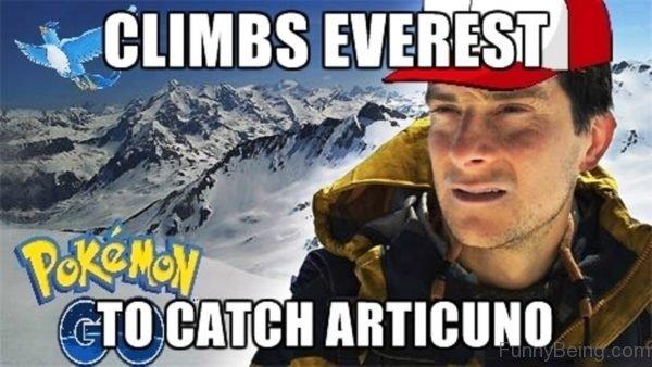 Climbs Everest To Catch Articuno