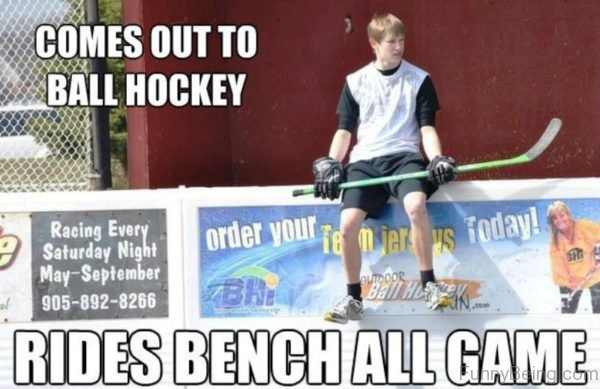 Comes Out To Ball Hockey