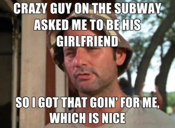 Crazy Guy On The Subway