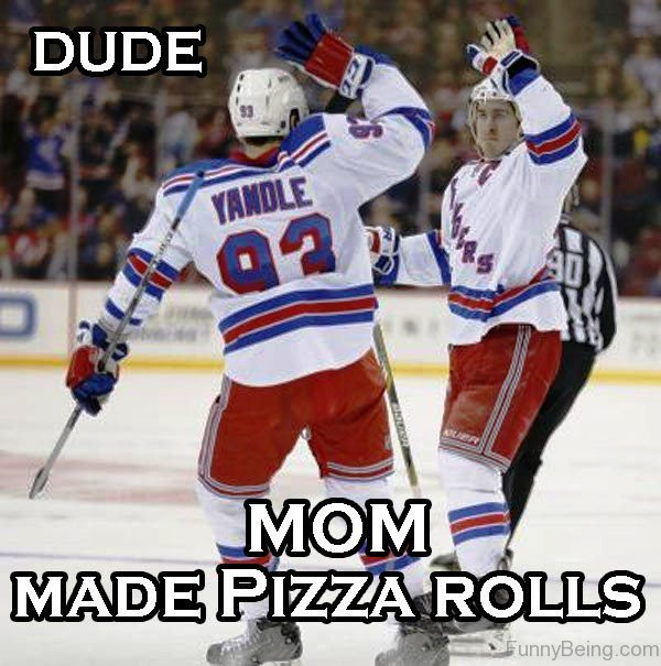 Dude Mom Made Pizza Rolls