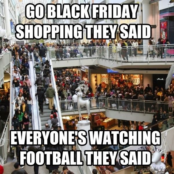 Go Black Friday Shopping They Said