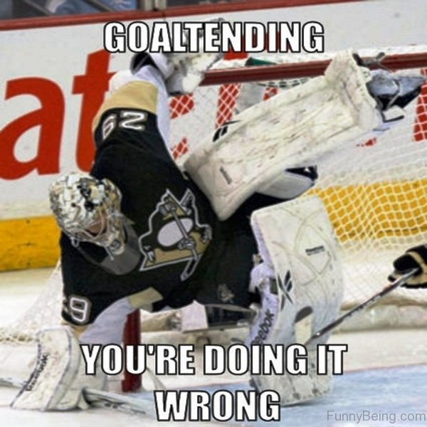 Goaltending Youre Doing It Wrong 55 amazing hockey memes