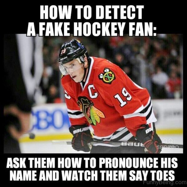 How To Detect A Fake Hockey Fan