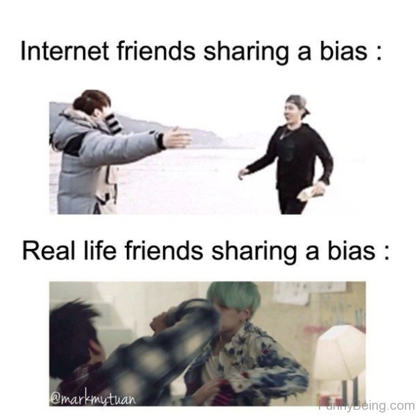 Internet Vs Real Friends Sharing A Bias