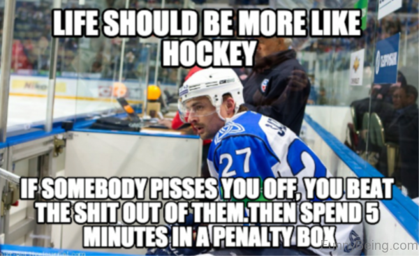 Life Should Be More Like Hockey
