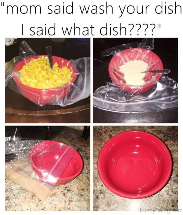 Mom Said Wash Your Dish