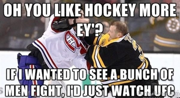 Oh You Like Hockey More