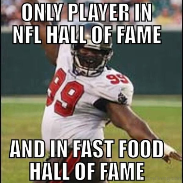 Only Player In NFL Hall Of Fame
