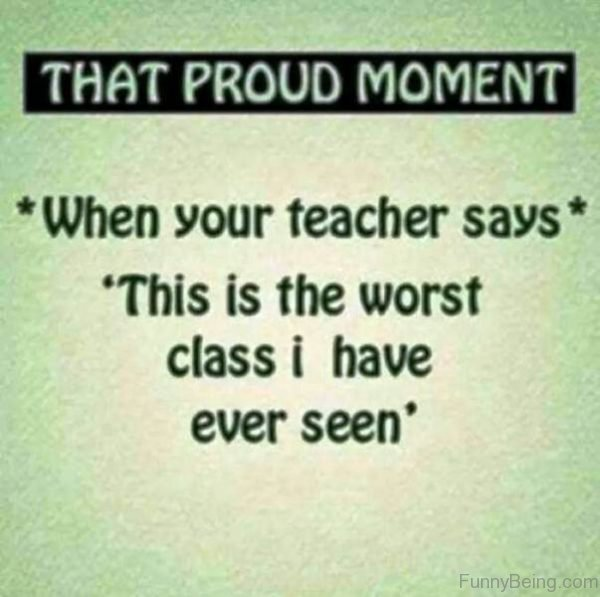 That Proud Moment