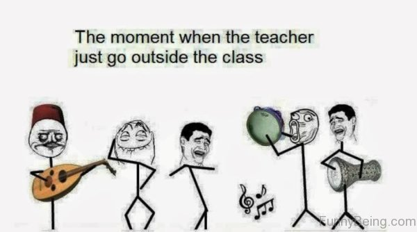 The Moment When The Teacher