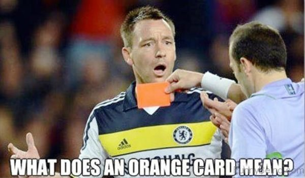 What Does An Orange Card Mean
