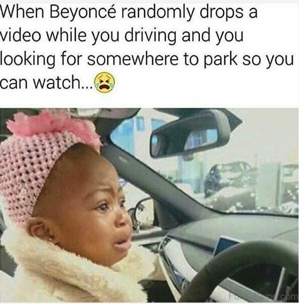 When Beyonce Randomly Drops