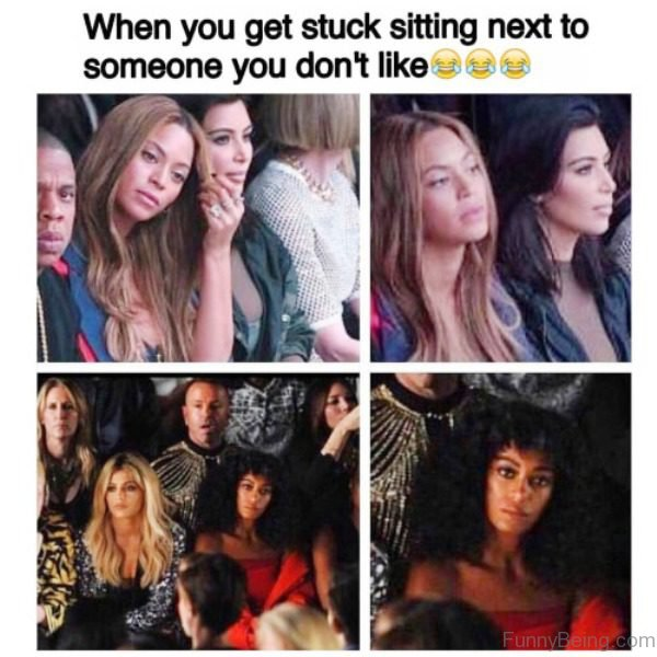 When You Get Stuck Sitting Next