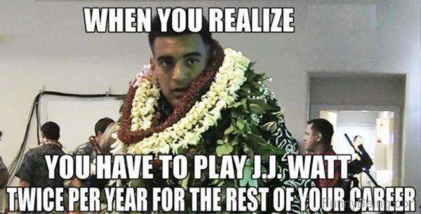 You Have To Play J.J. Watt Twice