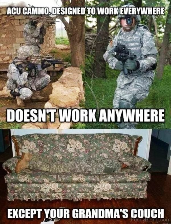 ACU Cammo Designed To Work Everywhere