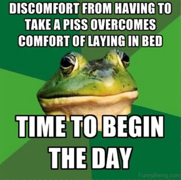 Discomfort From Having To Take