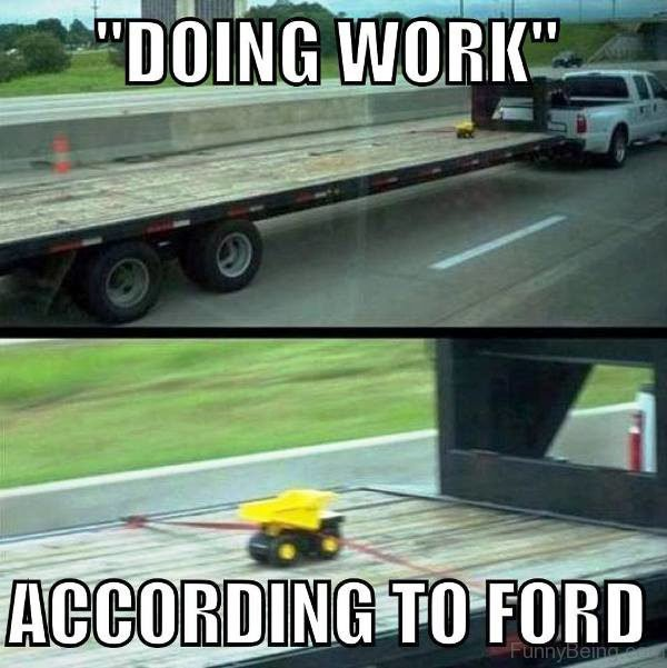 Doing Work According To Ford