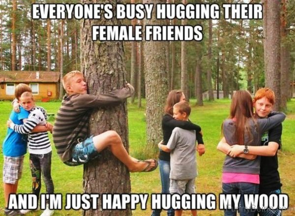 Everyone's Busy Hugging Their Female Friends