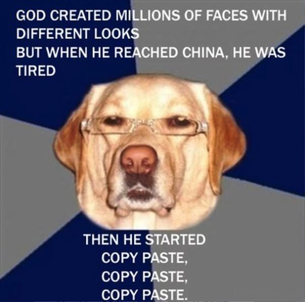 God Created Millions Of Faces