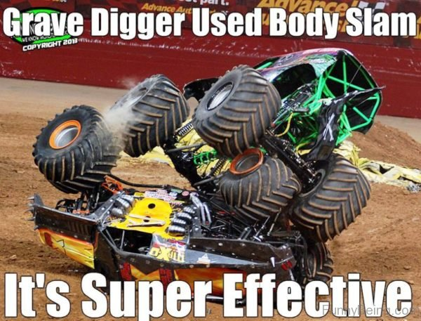 Grave Digger Used Body Slam