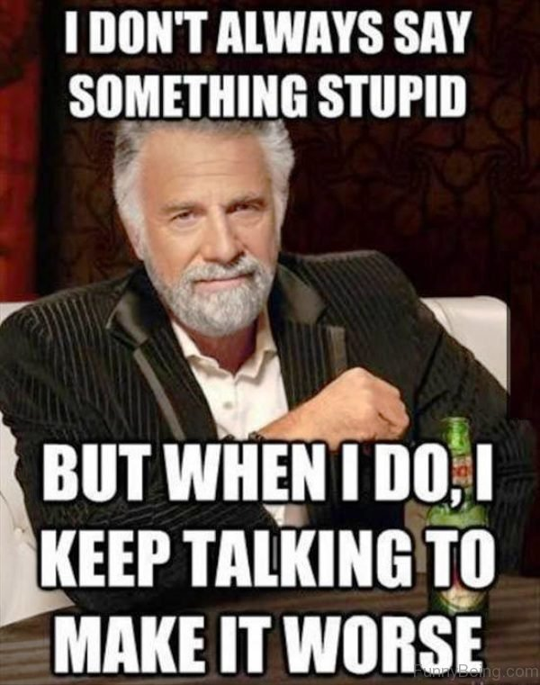 I Don't Always Say Something Stupid