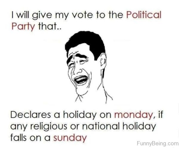 I Will Give My Vote To The Political Party