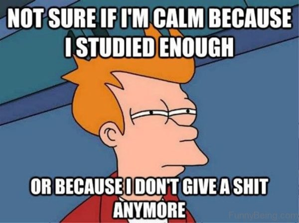 Not Sure If I'm Calm