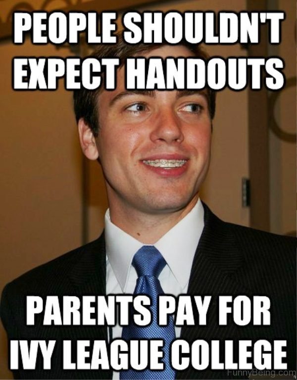 People Shouldn't Expect Handouts