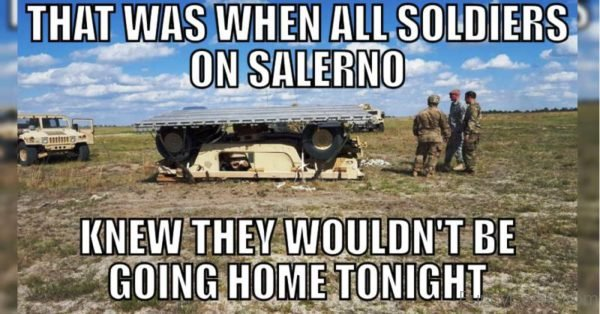 That Was When All Soldiers On Salerno