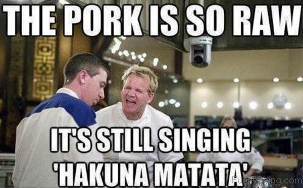 The Pork Is So Raw