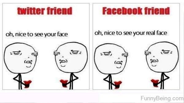Twitter Friend Vs Facebook Friend