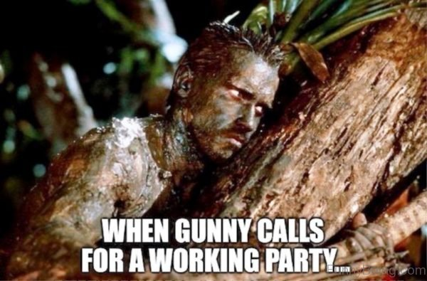 When Gunny Calls For A Working Party