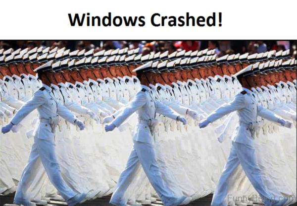 Windows Crashed