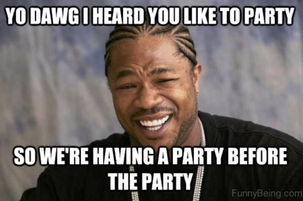 Yo Dawg I Heard You Like To Party