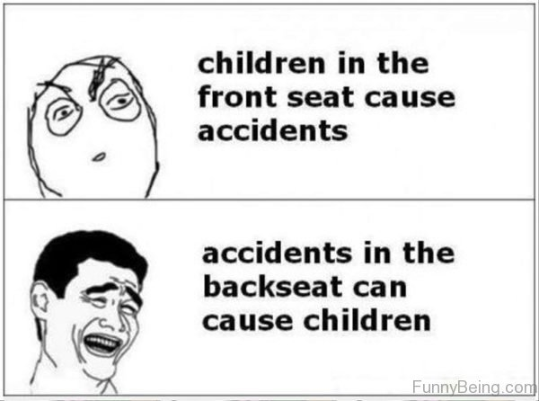 Children In The Front Seat Cause Accidents