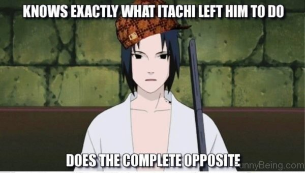 Knows Exactly What Itachi Left Him To Do