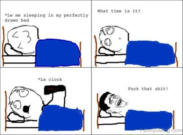 Le Me Sleeping In My Perfectly Drawn Bed