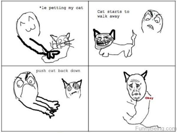 Le Petting My Cat