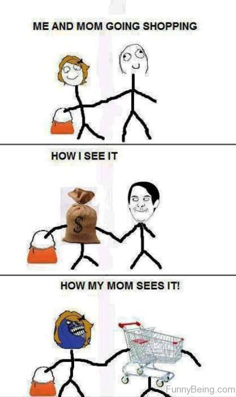 Me And Mom Going Shopping