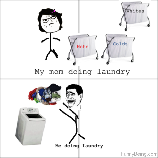 My Mom Doing Laundry