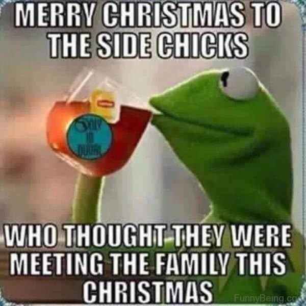 Merry Christmas To Side Chicks