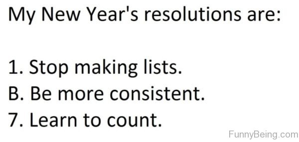 My New Years Resolutions Are