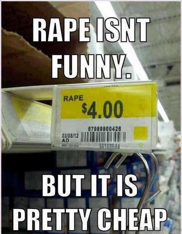 Rape Isn't Funny