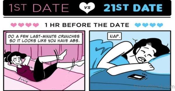 1st Date Vs 21st Date