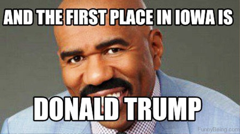 And The First Place In Lowa Is 80 simply funny donald trump memes