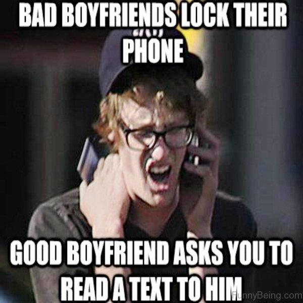 Bad Boyfriends Lock Their Phone
