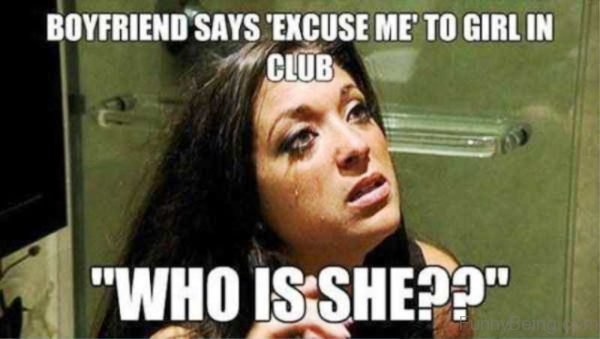 Boyfriend Says Excuse Me To Girl In Club
