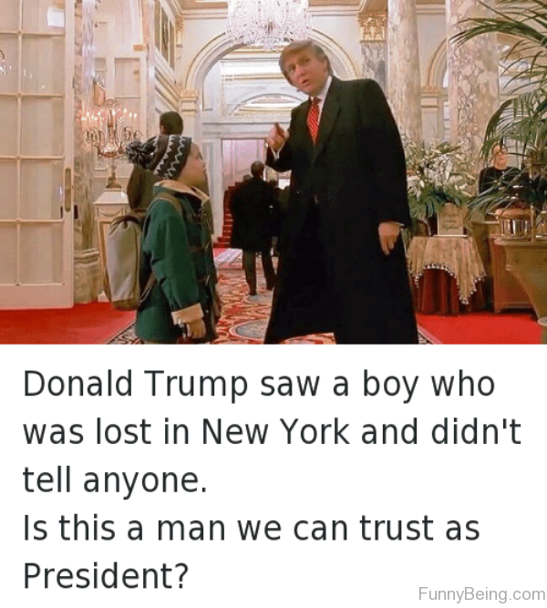 Donald Trump Saw A Boy