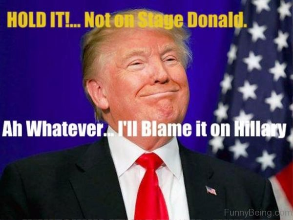 Hold It Not On Stage Donald